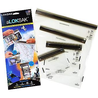 "Loksak aLoksak Resealable Waterproof Storage Bags (4""x7"", 6""x6"", 9""x6"", 12""x12"")"