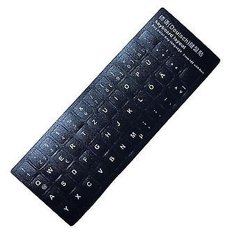 Mehrsprachige Tastatur-Tastenaufkleber (Deutsch)