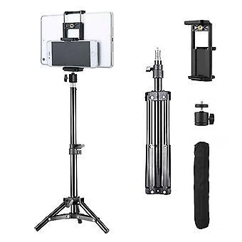 Réglable 0.5M Trépied Stand Appareil photo Téléphone Tablette Universal Aluminium Mount Noir