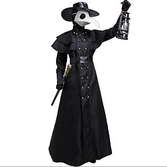 Halloween keskiaikainen lintumies pitkät suu vaatteet ei voi toimittaa ennen Halloweenia
