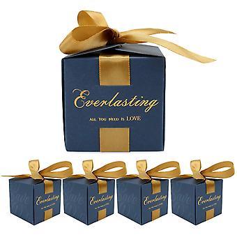 50 Geschenktüten Blaue Süßigkeitenbox Geeignet für Hochzeit Baby Geburtstag Party Dekoration