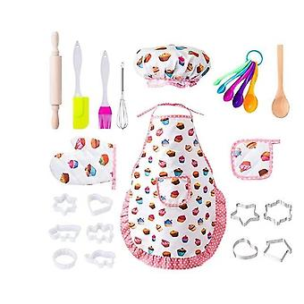 Career Chef Role Play Cooking Pastry Costume Set 20 Pcs Kids Toys