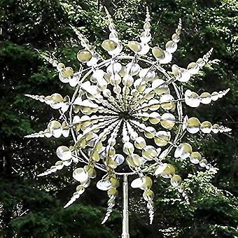 Qianユニークで魔法の金属風車屋外風スピナー風キャッチャー