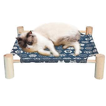 Cat Bed, Cat Hængekøje massivt træ lærred kan fjernes