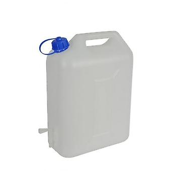 10Ltr White Watercan Storage With Tap and Handle Plastic