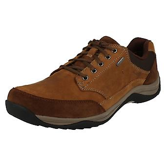 Mens Clarks Casual Gore-Tex Lace Up Shoes Baystonego GTX