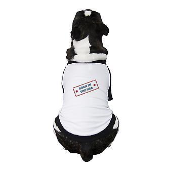 ولد في الولايات المتحدة الأمريكية قميص الرغلا ن معطف الحيوانات الأليفة الكلب الصغيرة الهدايا ل 4 يوليو