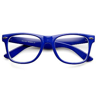 Bordés de corne couleur Neon Super Party rétro Style lunettes lunettes de lentille claire