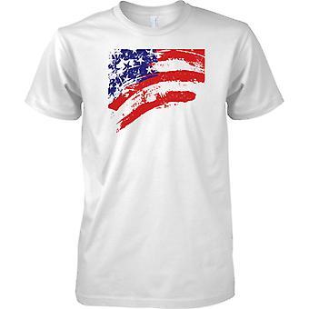 USA, Sterne und Streifen Flag Effect - T-Shirt für Herren