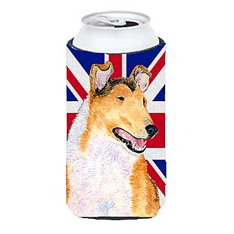 Collie Smooth with English Union Jack British Flag Tall Boy Beverage Insulator H