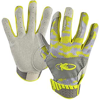 Lizard Skins Adult Komodo Elite Batting Gloves - Neon/Phantom Camo