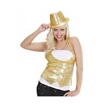 Vrouwen kostuums Pk 4 dames ' gouden PAILLETTEN VEST