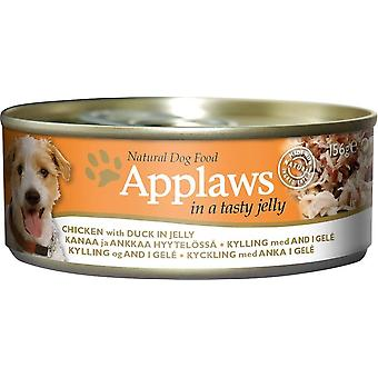 Applaws Dog Can Food Chicken With Duck In Jelly 156g (Pack of 16)