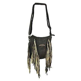 Union Bay mørk brun Fringe Crossbody Bag