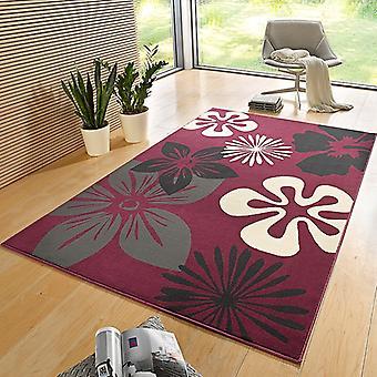 Flore de tapis Design velours violet | 102401
