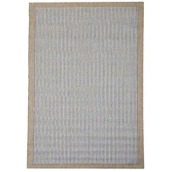Utomhus mattan för terrass / balkong blå Essentials krom blå 135 / 190 cm matta inomhus / utomhus - för inomhus och utomhus
