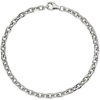 アンカー ブレスレット 925 スターリングシルバー ダイヤモンド シルバー ブレスレット 21 cm