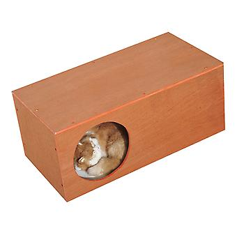 PawHut Indoor Outdoor Cat Hideaway Tunnel Garden Kitty Box House Pet Home Rabbit Hutch Run Play Cage Waterproof Shelter 60Lx30Wx25H(cm)