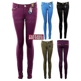 New Ladies Skinny Fit Qualité jeggings Jeans Femmes Slim pantalons