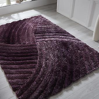 Verge Furrow Rugs In Purple