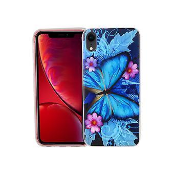 Apple iPhone XR telefon komórkowy sprawa sprawa Osłona zderzaka motyl niebieski