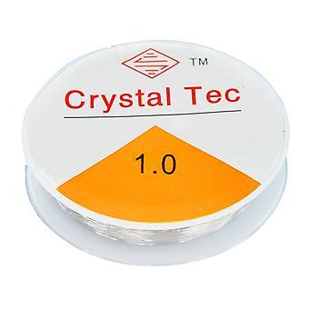 TRIXES 8m bobine clair 1mm fil Stretch élastique pour l'artisanat Bijoux Perle