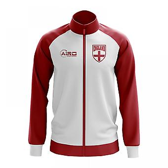 England-Konzept Fußball Trainingsjacke (weiß)
