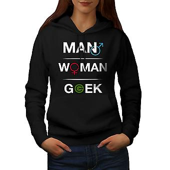 Grappige Geek Power vrouwen BlackHoodie | Wellcoda