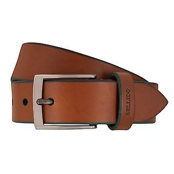 MIGUEL BELLIDO sports wear belts men's belts leather belt Cognac 7706