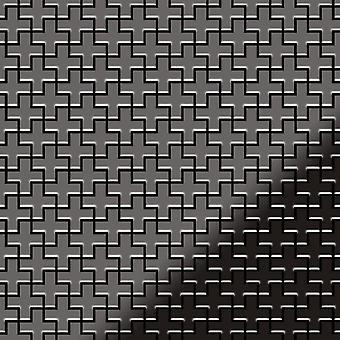 Kovová mozaika Titan slitina Swiss-kříž-ti-SM