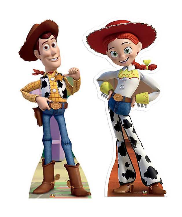 64e9c4b86f032 Woody y Jessie de Toy Story Lifesize Figura de cartón   espectador de pie  Set