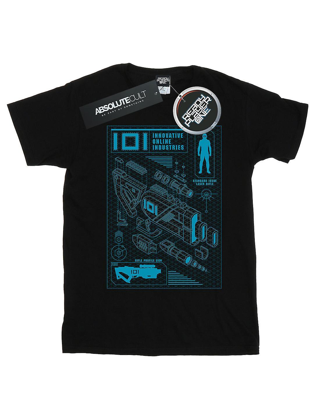 Ready Player One Men's IOI Laser Rifle Blueprint T-Shirt