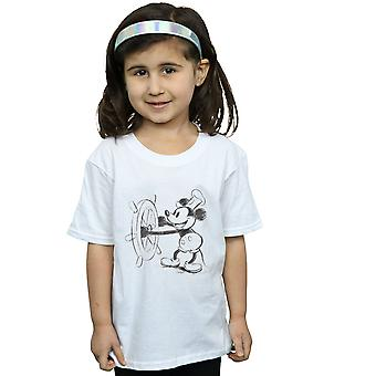 Filles de Disney Mickey Mouse Steamboat Sketch T-Shirt
