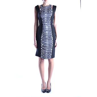 Balmain Ezbc005004 Damen's schwarze Wolle Kleid