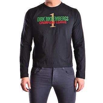 Bikkembergs Ezbc101050 Hombres's Suéter de Algodón Negro