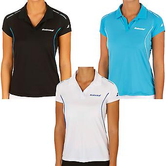 Babolat Womens Tennis Match Core Short Sleeve Polo Shirt Top - XS