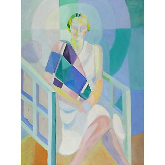 Study of Mrs. Ham-S Painting, Robert Delaunay, 50x37cm