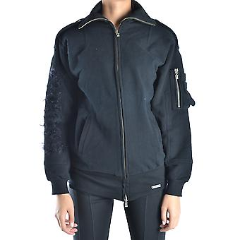 John Galliano Ezbc164051 Women's Black Cotton Sweatshirt