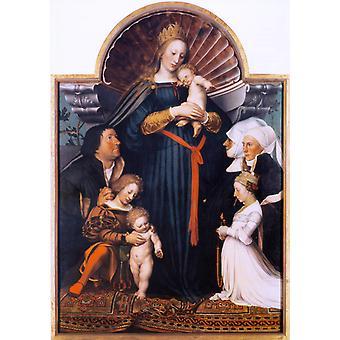 Damstadt Madonna, Hans Holbein der Jüngere, 60x42cm