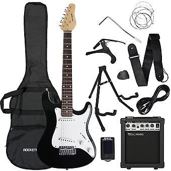 Rocket 3/4 Electric Guitar Starter Pack - Black