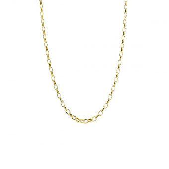 Eternity 9ct Gold 20'' Small Diamond Cut Belcher Chain