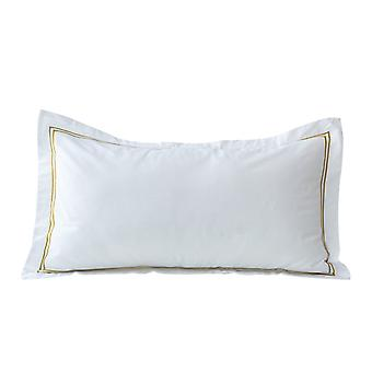 Snipe Pillow case 400 TC Prima cotton satin with gold embroidery