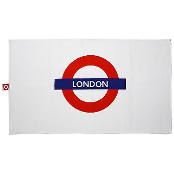 Tfl™6102 licensed london roundel™ print tea towel