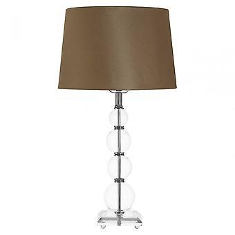Premier Home Pearl Table Lamp, Silk, Stainless Steel, Brown