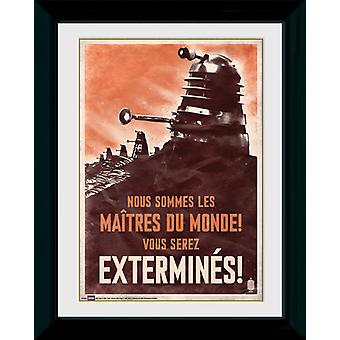 Doctor Who Daleks indrammet Collector Print 40x30cm