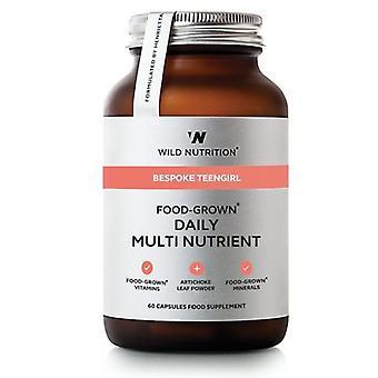 Wild Nutrition Bespoke Teengirl Food-Grown Daily Multi Nutrient Vegicaps 60
