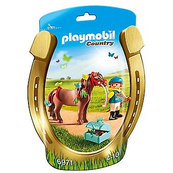 Playmobil 6971 Collectable groomer met Butterfly pony