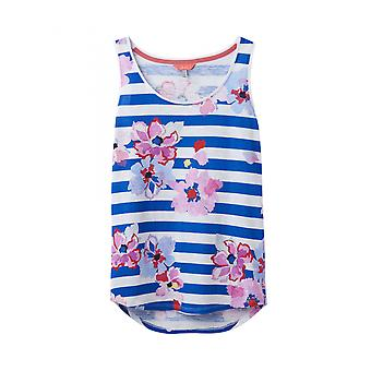 Joules Bo Print Womens Vest Jersey-listra azul floral