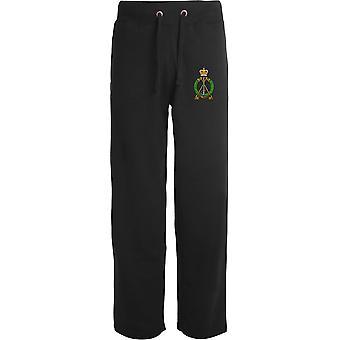 Royal Pioneer Corps - lizenzierte britische Armee bestickt offenen Hem Sweatpants / Jogging Bottoms