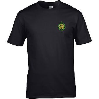 Argyll & Sutherland Highlanders-licenseret britisk hær broderet Premium T-shirt
